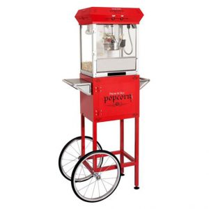 Machine à popcorn GOLDEN de 4 onces avec chariot rouge