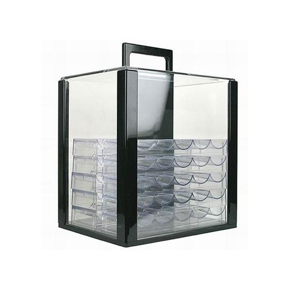 Boitier en acrylique avec plateaux (cap 1000pcs)