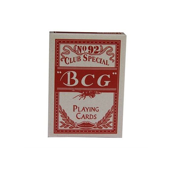 Jeu de cartes Std BCG Rouge