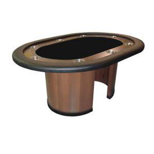 """Table de poker Ovale 62"""" Série Suprême pattes en bois"""