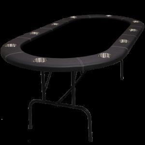 "Table de poker Ovale 96"" Série Legacy"