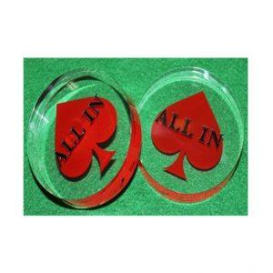 Bouton clair acrylique 3 pouces