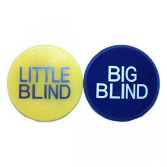 Bouton Big et little Blind 1 pouce