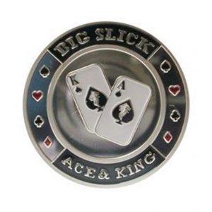 Protecteur de carte Big Slick Argent
