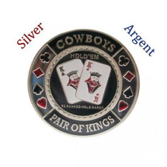 Protecteur de carte Cowboys Argent
