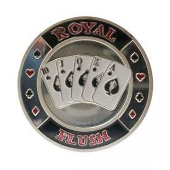 Protecteur de carte Royal Flush Argent