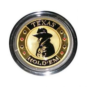 Protecteur de carte Texas Hold'Em Or