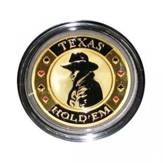 Protecteur de carte Texas Hold'Em Or